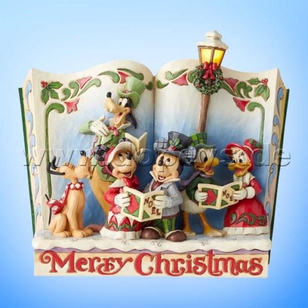 Merry Christmas (Weihnachtssänger Märchenbuch) Figur von Disney Traditions / Jim Shore - Enesco 6002840