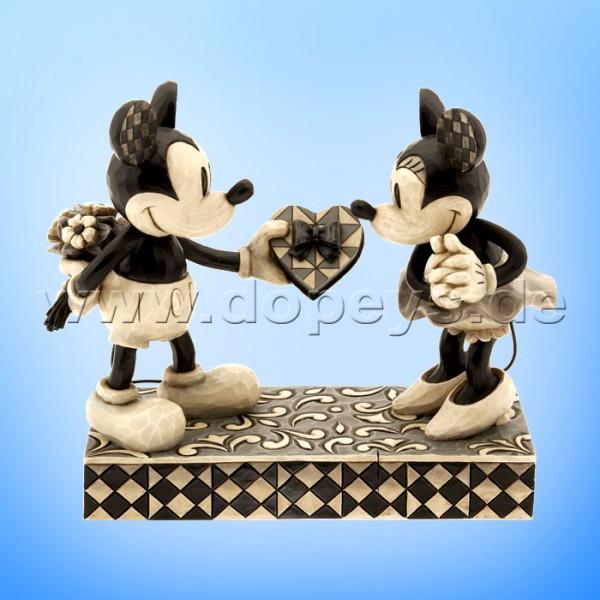 Disney Traditions - Real Sweetheart (Mickey & Minnie Retro schwarz-weiß) von Jim Shore 4009260
