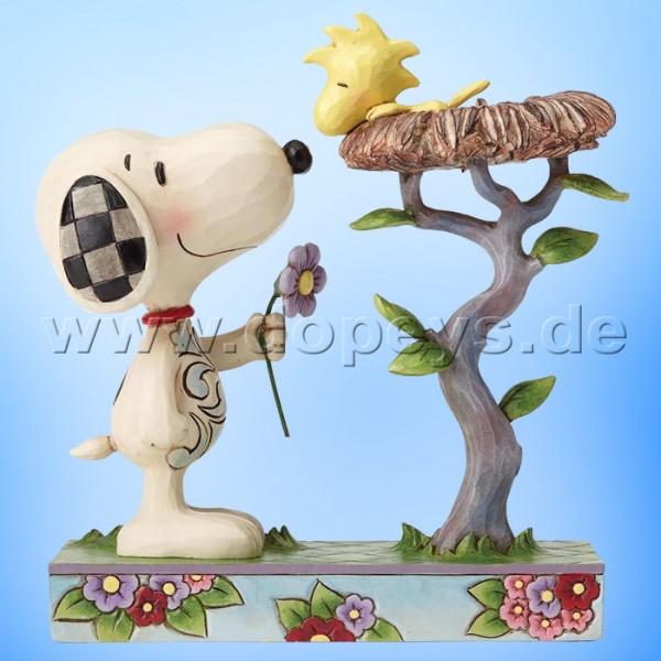 "Peanuts / Jim Shore Figur von Enesco ""Nest Warming Gift (Snoopy und Woodstock)"" 4054079."