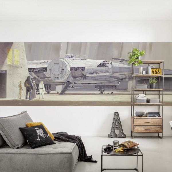 """Star Wars Fototapete """"Star Wars Classic RMQ Millenium Falcon"""""""