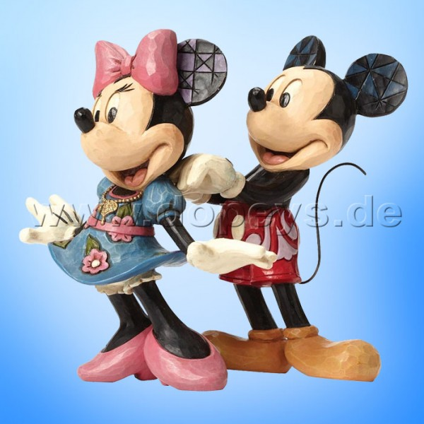 "Disney Traditions / Jim Shore Figur von Enesco.""For My Sweetheart (Mickey & Minnie Maus)"" 4046042."