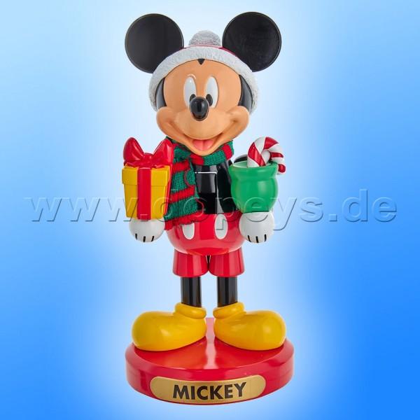 """Kurt S. Adler - Disney Nussknacker """"Mickey Maus"""" mit Weihnachtsgeschenk DN6211L"""