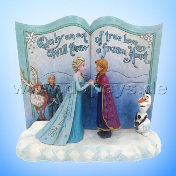 "Disney Traditions / Jim Shore Figur von Enesco.""Act of Love (Die Eiskönigin Märchenbuch)"" 4049644."