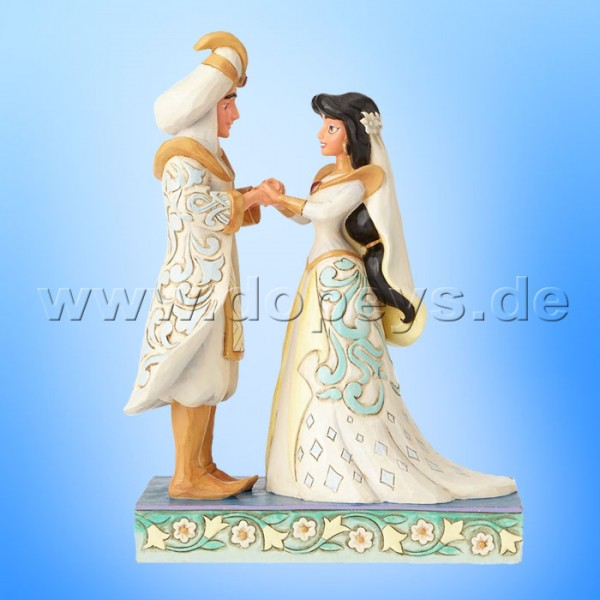 "Disney Traditions / Jim Shore Figur von Enesco ""A Wish Come True (Jasmin & Aladdin Hochzeitsfigur)"" 4056750."