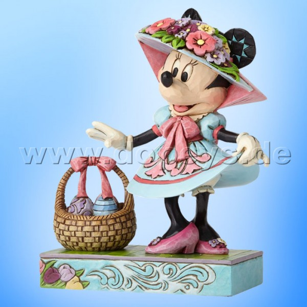 "Disney Traditions / Jim Shore Figur von Enesco ""Easter Finery (Minnie Maus mit Osterhäubchen)"" 4055429."