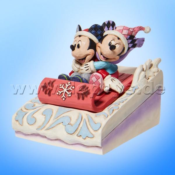 Disney Traditions - Sledding Sweethearts (Mickey & Minnie rodeln) von Jim Shore 6008972