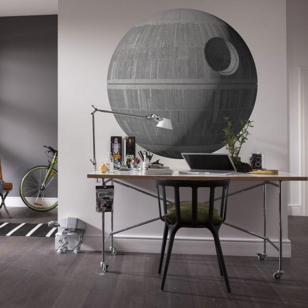"Star Wars Vlies Fototapete selbstklebend ""Star Wars XXL Death Star"" 127cm x 127cm"