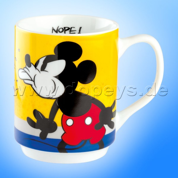 """Disney Tasse / Kaffeebecher - Mickey I Am """"Gelb"""" stapelbar, im italienischen Design PWM21IAM-1G, 35cl"""