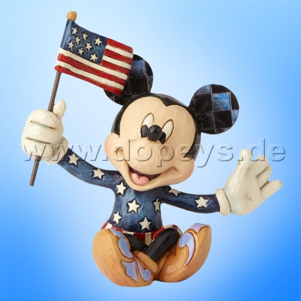 "Disney Traditions / Jim Shore Figur von Enesco ""Mini Patriotic Mickey"" 4056743."