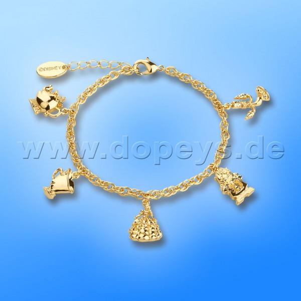 Disney Armband - Charm (Die Schöne und das Biest) in Gold von Couture Kingdom 12100441