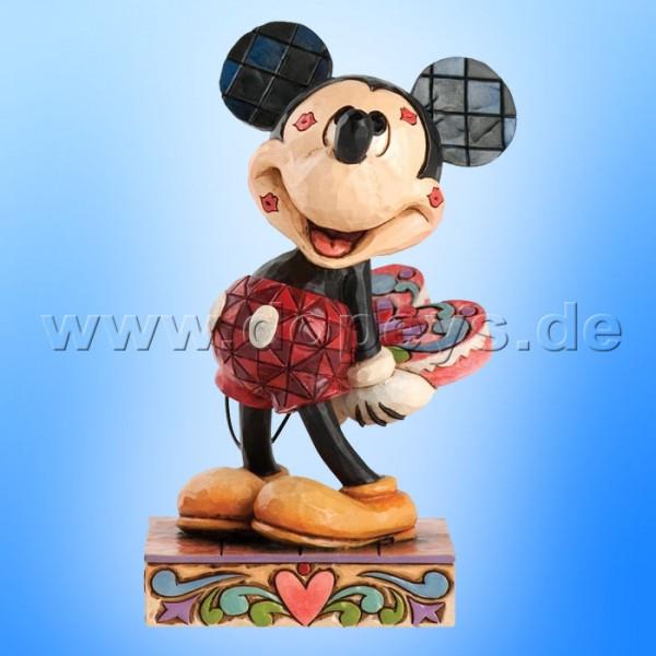 """Disney Traditions / Jim Shore Figur von Enesco """"Love Struck (Mickey Maus mit Herz)"""" 4031477."""