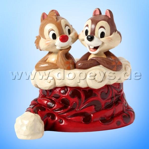 "Disney Traditions / Jim Shore Figur von Enesco. ""Holly Jolly Christmas (Chip & Chap)"" 4039036."