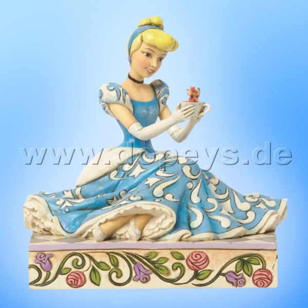 "Disney Traditions / Jim Shore Figur von Enesco ""Caring and Courageous (Cinderella mit Jaques und Karli)"" 4037511."