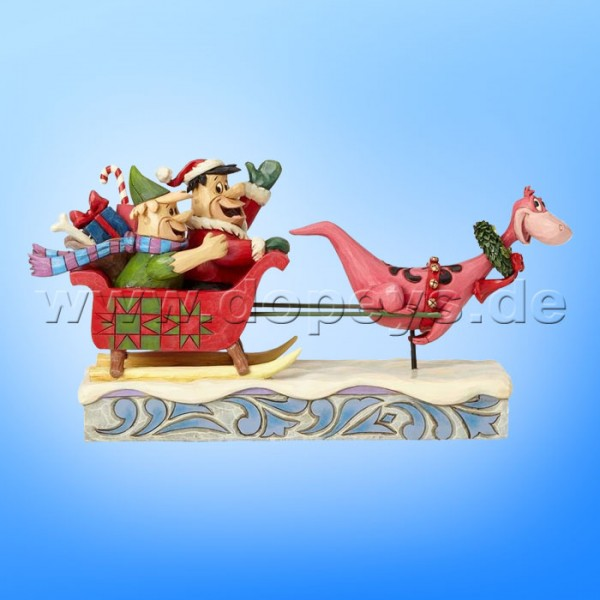 "The Flintstones / Jim Shore Figur von Enesco.""Christmas in Bedrock (Schlittenfahrt mit Familie Feuerstein)"" 4058331"