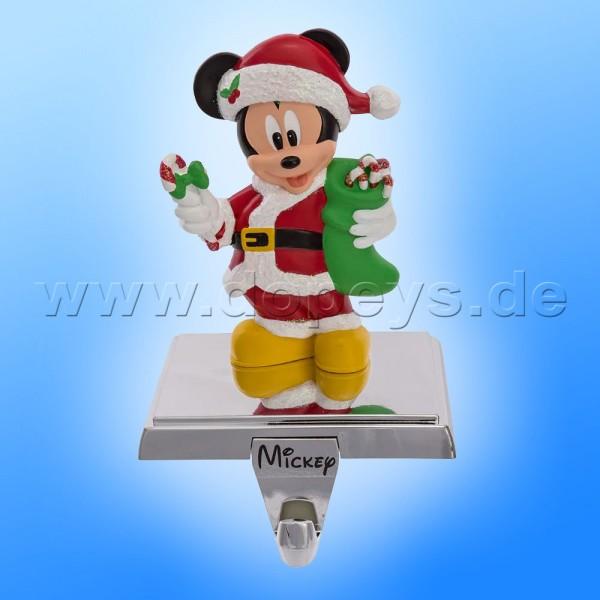 """Kurt S. Adler - Disney Weihnachtsstrumpfhalter / Kaminsockenhalter """"Mickey Maus"""" mit ausziehbarem Haken DN7161"""
