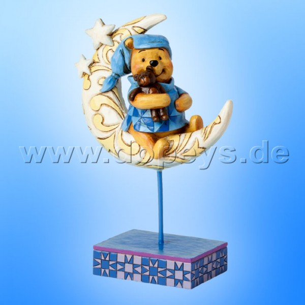"Disney Traditions / Jim Shore Figur von Enesco. ""Bedtime Bear (Winnie Puuh auf dem Mond)"" 4038499."