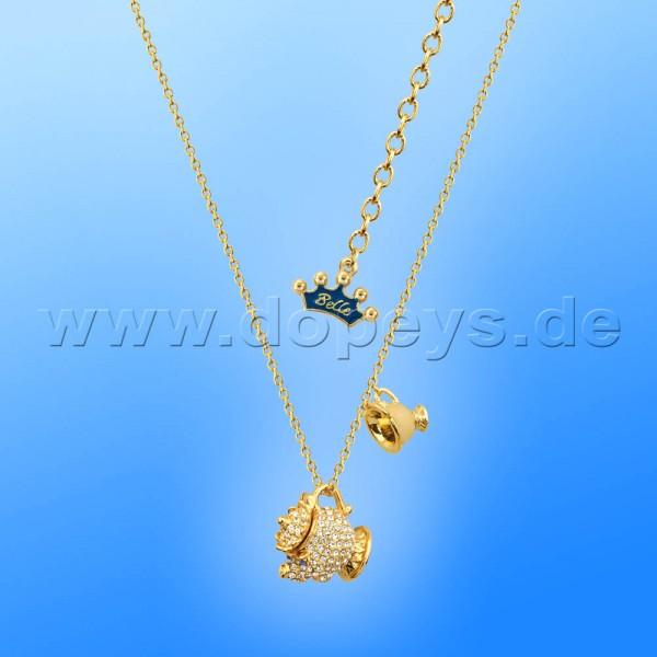 Disney Halskette - Kristall Madame Pottine & Tassilo (Die Schöne und das Biest) in Gold von Couture Kingdom 12100451