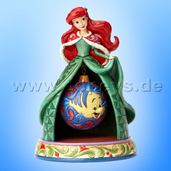 "Disney Traditions / Jim Shore Figur von Enesco ""Tidings Of Wonder (Weihnachts Arielle)"" 4057943."