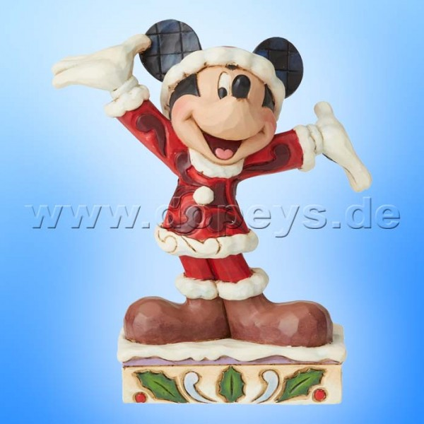 Tis a Splendid Season (Weihnachts-Mickey Maus Personality) Figur von Disney Traditions / Jim Shore - Enesco 6002842