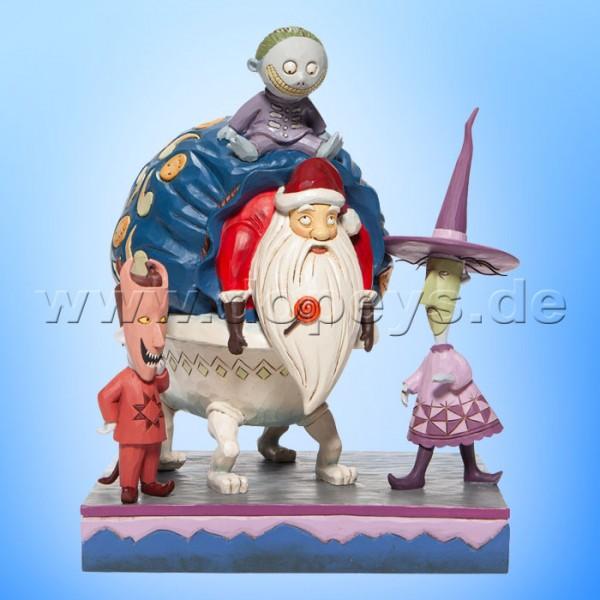 Disney Traditions - Bagged and Delivered (Lock, Shock & Barrel mit Weihnachtsmann) von Jim Shore 6007076