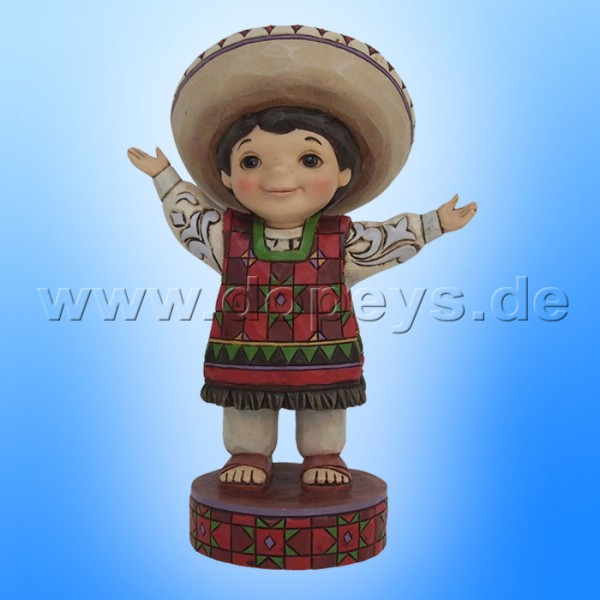 "Disney Traditions / Jim Shore Figur von Enesco ""Welcome to Mexico (Small World Mexico)"" 4055421."
