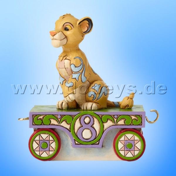 "Disney Traditions / Jim Shore Figur von Enesco ""Simba - Geburtstagszug Jahr 8"" 4055418."
