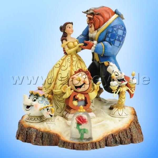 """Disney Traditions / Jim Shore Figur von Enesco. """"Tale As Old As Time (Die Schöne und das Biest Baumstamm)"""" 4031487."""