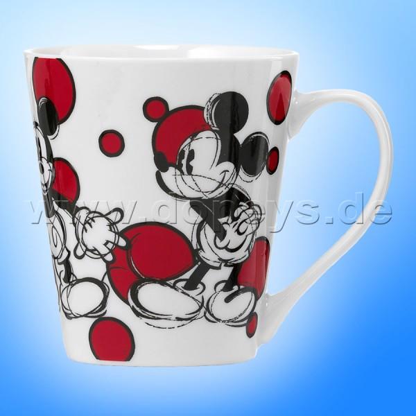 Disney Kaffeetasse Mickey rote Punkte im italienischen Design