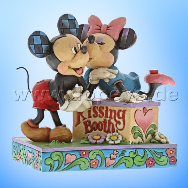 "Disney Traditions / Jim Shore Figur von Enesco ""Kissing Booth (Mickey & Minnie)"" 6000970"