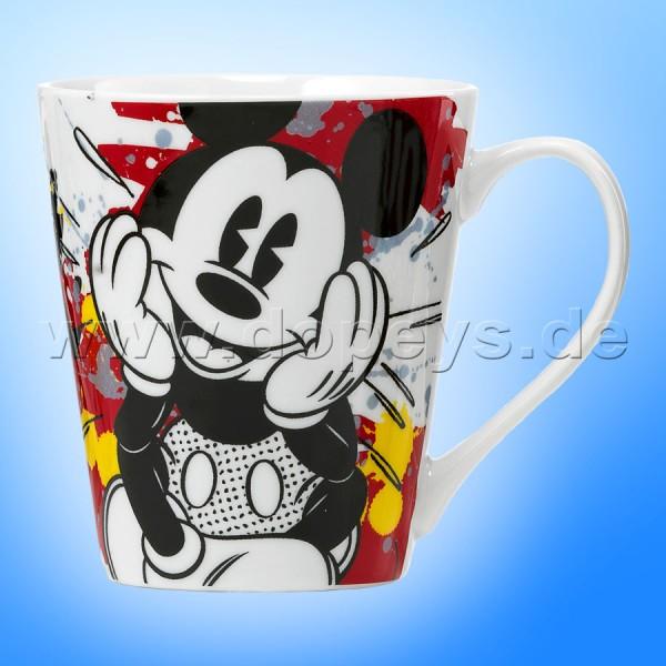 Disney Kaffeetasse Mickey rot/gelb im italienischen Design