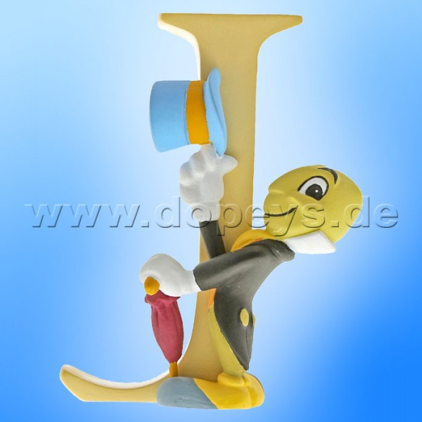 "Enchanting Disney Collection - Buchstabe ""J"" - Jiminy Grille Figur von Enesco A29555"