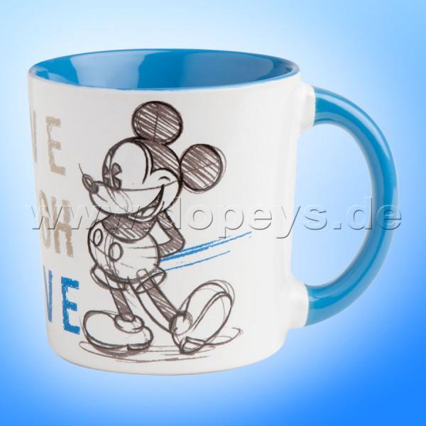 "Disney Kaffeetasse Mickey Maus ""Blau"" Live Laugh Love, 39 cl PWM21LL/1B"