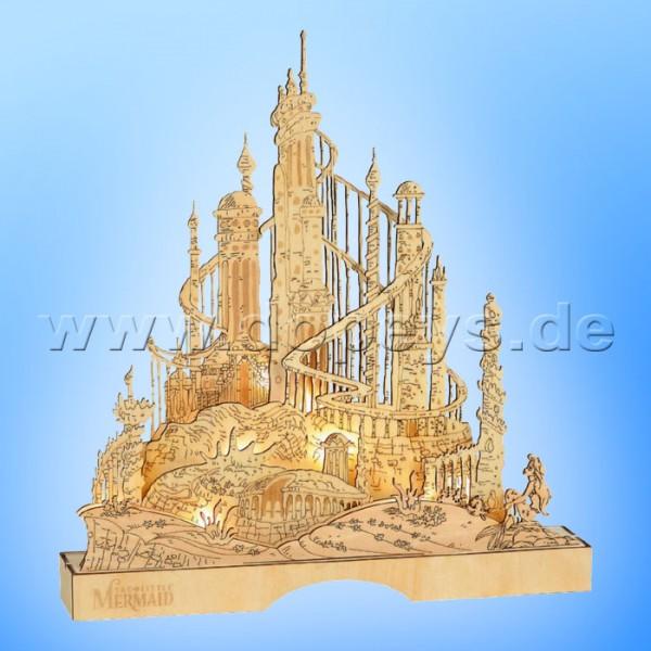 Disney Flourish - König Triton's Unterwasserpalast (Arielle, die Meerjungfrau) Lichterhaus / Schwibbogen Department 56 6011061