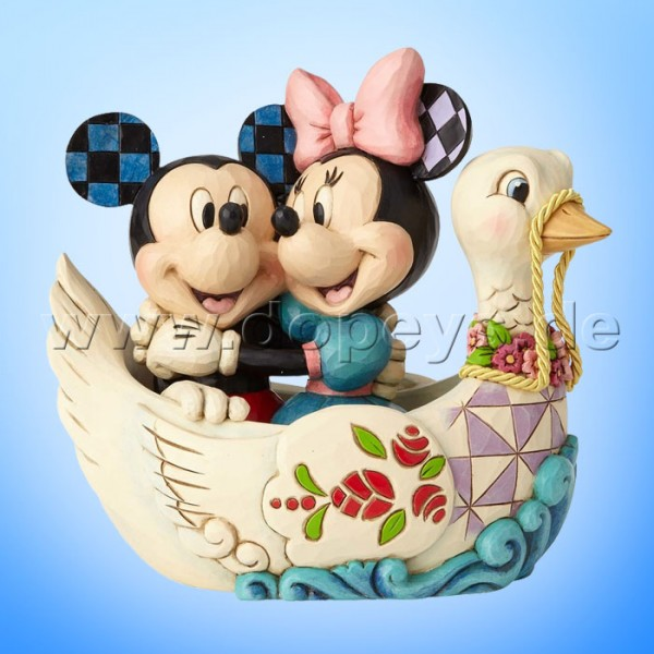 """Disney Traditions / Jim Shore Figur von Enesco """"Lovebirds (Mickey und Minnie in einem Schwanenboot)"""" 4059744"""