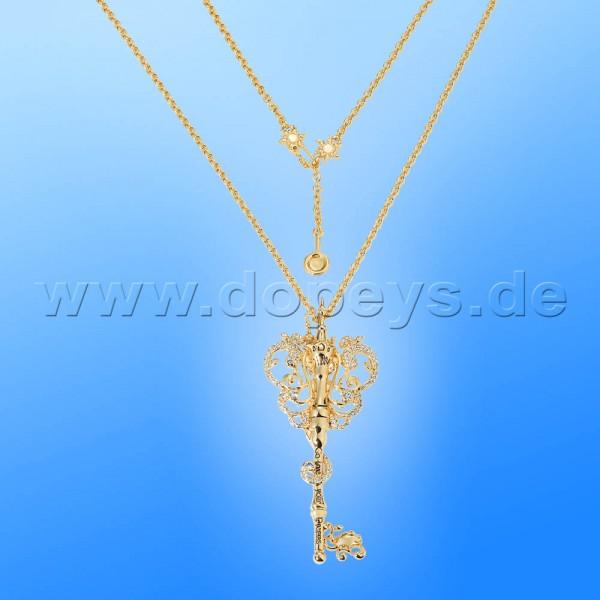Disney Halskette - Schlüssel (Rapunzel) in Gold von Couture Kingdom 12100641
