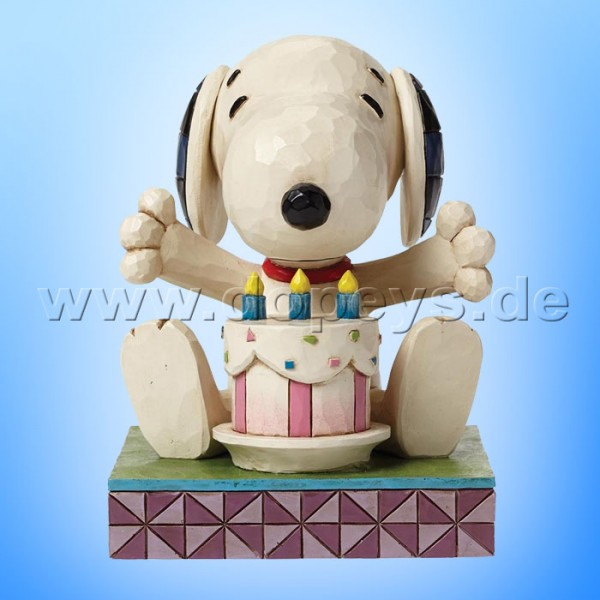 "Peanuts / Jim Shore Figur von Enesco.""Happy Birthday (Snoopy)"" 4049417."