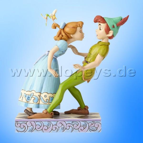 "Disney Traditions / Jim Shore Figur von Enesco ""An Unexpected Kiss (Peter & Wendy 65 Jahre Jubiläumsfigur)"" 4059725"