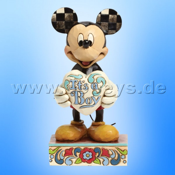 "Disney Traditions / Jim Shore Figur von Enesco. ""It's a Boy (Mickey Maus)"" 4043663."