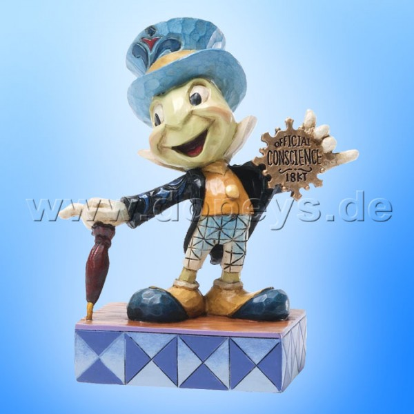 "Disney Traditions / Jim Shore Figur von Enesco. ""Official Conscience (Jiminy Grille)"" 4031474."
