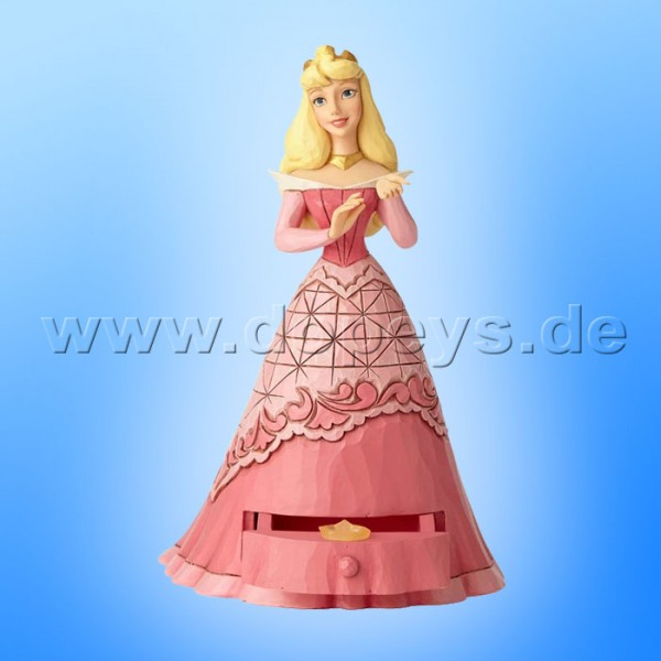 "Disney Traditions / Jim Shore Figur von Enesco ""Aurora's Secret Charm (Aurora mit Schmuckkasten)"" A29507"