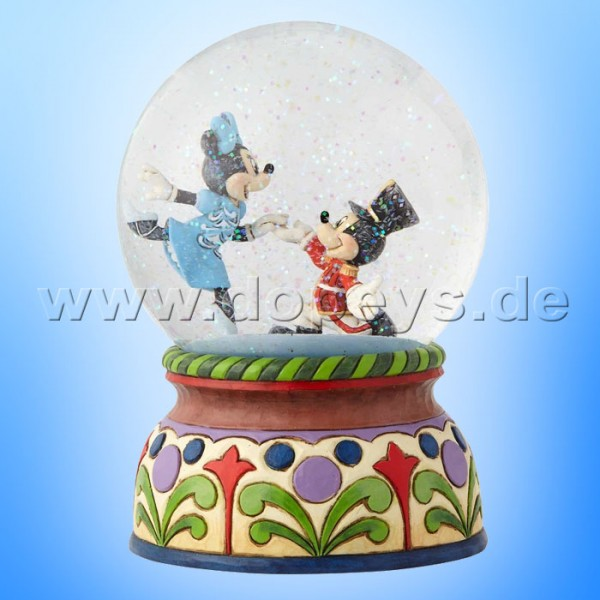 "Disney Traditions / Jim Shore Figur von Enesco ""A Magical Moment (Nussknacker Minnie & Mickey Spieluhr Schneekugel)"" 6000944"