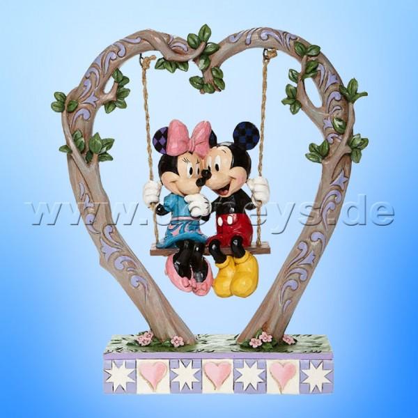 Disney Traditions - Sweethearts in Swing (Mickey & Minnie auf einer Herzschaukel) von Jim Shore 6008328