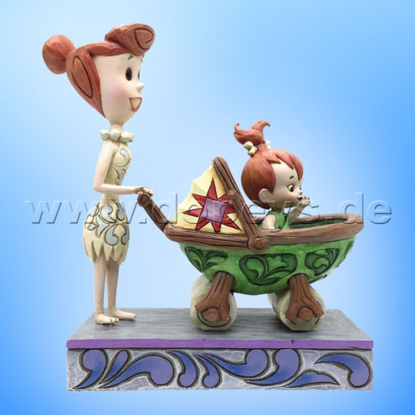 "The Flintstones / Jim Shore Figur von Enesco.""Bedrock Buggy (Wilma mit Pebbles im Kinderwagen)"" 4058334"