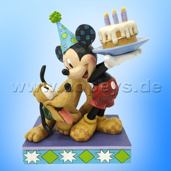 Disney Traditions - Happy Birthday, Pal (Pluto & Mickey feiern Geburtstag) von Jim Shore 6007058