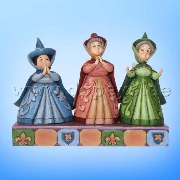 "Disney Traditions / Jim Shore Figur von Enesco ""Royal Guests (Drei gute Feen, Flora, Fauna & Sonnenschein)"" 4059734"