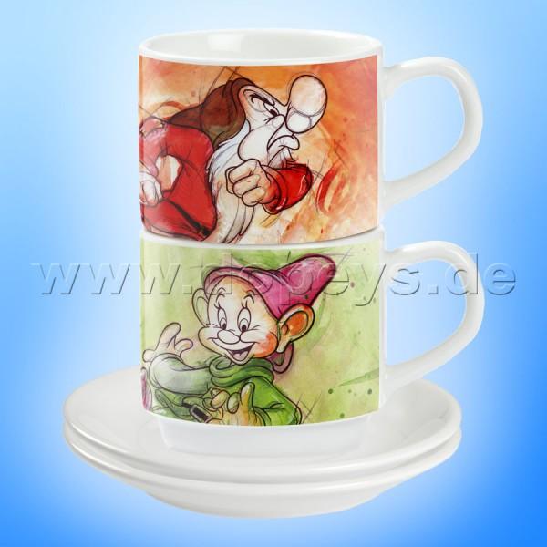 """Disney Espresso Tassen 2er Set """"Brummbär und Seppl"""" italienisches Design"""