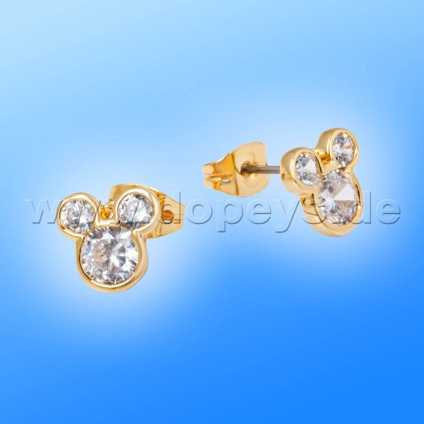 Disney Ohrstecker - Mickey Maus (Kristall) in Gold von Couture Kingdom 12100681