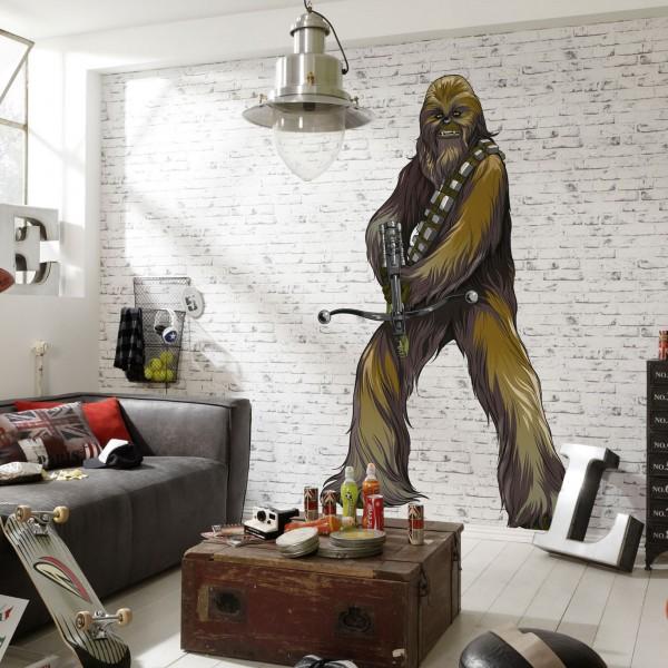 """Star Wars Vlies Fototapete selbstklebend """"Star Wars XXL Chewbacca"""" 127cm x 200cm"""