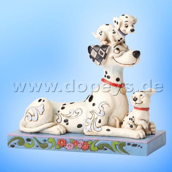 """Disney Traditions / Jim Shore Figur von Enesco """"Puppy Love (Pongo miit Penny und Rolly)"""" 4054278."""