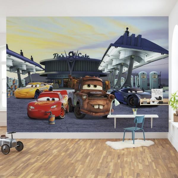 """Disney Fototapete """"Cars3 Station"""""""